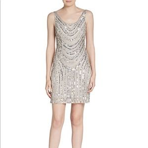 Beaded and sequined cocktail dress